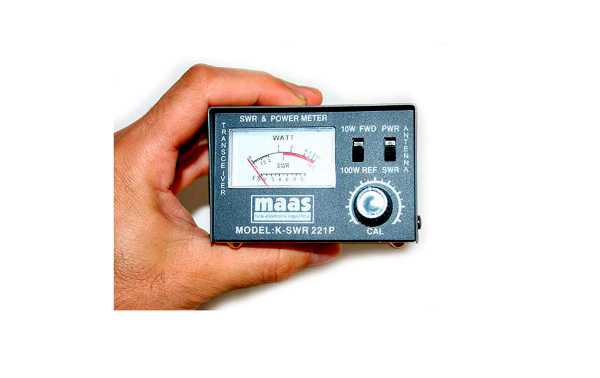 Maas Meter ROE / Watimetro 100 w. 26-30 Mhz.