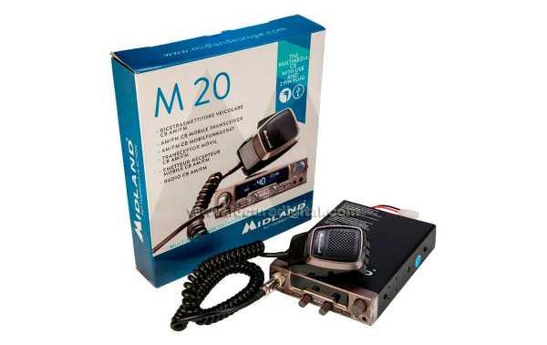 Station de Radio MIDLAND M-20 CB 27 AM-FM 40 CANAUX