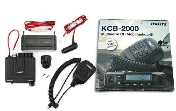 MAAS KCB 2000 Emisora CB 27 Mhz 40 canales AM/FM