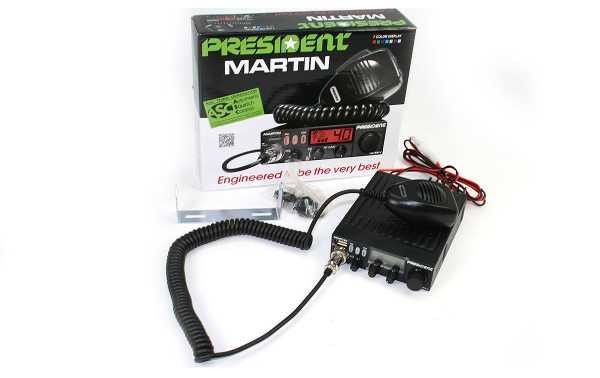 President MARTIN 40 channel transmitter CB 27 Mhz AM / FM operate 12/24