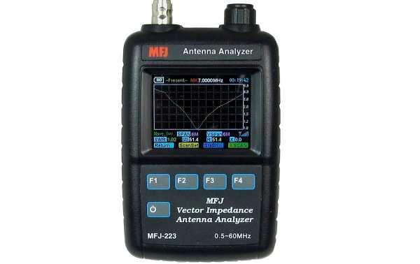 Analyseur d'antenne MFJ-223 VNA graphique couleur 1-60 Mhz