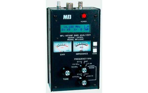 MFJ 259 C ANALIZADOR DE ANTENA HF /  VHF 0,53 -230 Mhz  !! NUEVO MODELO !!