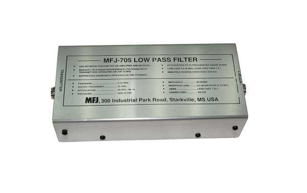 MFJ 705 Filtro Pasabajos MFJ para HF. Frecuencia paso de 0 a 30 Mhz, 2500 Wats