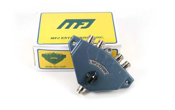 MFJ-1704-N Conmutador conectores N