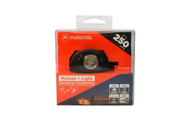 Phare MOTOROLA MHC-250 250 lumens noir et orange