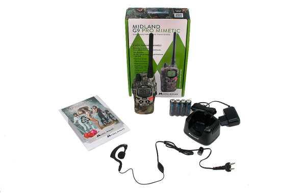 MIDLAND G9-PRO-MIMETIC walkie uso libre PMR 446 + Pinganillo PIN19S
