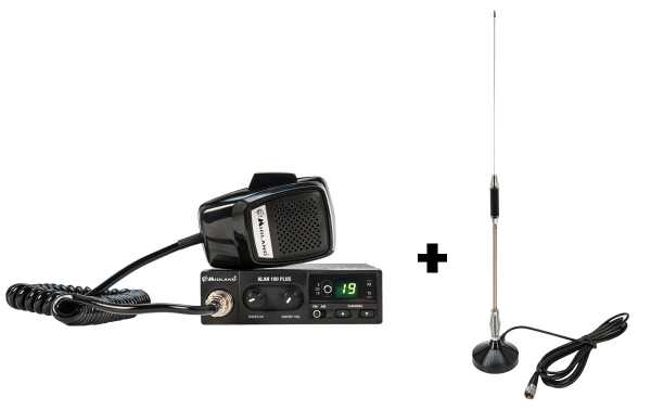 CB ALAN 100 PLUS transmitter + Magnetic Antenna
