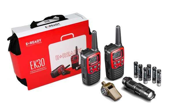 MIDLAND EK-30 Kit Emergencia 2 walkies XT-30 + 1 Linterna + 1 Silbato