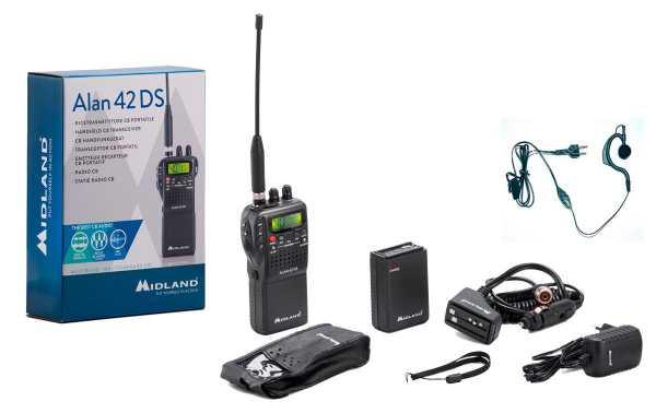 Alan 42 DS Multi, 27MhZ CB AM / FM Walkie + Pinganillo PIN19-S gift