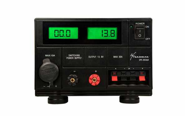SPS3036D Digital switched power supply 13.8 volts. 25 amps, peak 30 Amps.