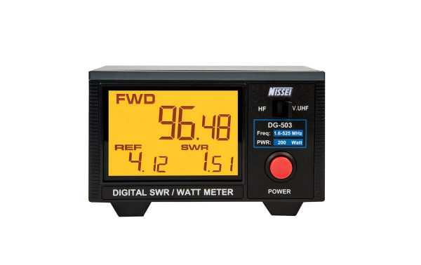 NISSEI DG-503 DIGITAL SWR+Watimetro HF/VHF/UHF 200W