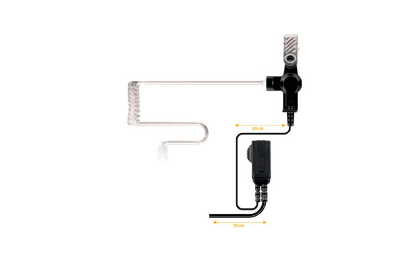 PIN39M7 NAUZER micro-auricular orejera PTT para MOTOROLA DMR
