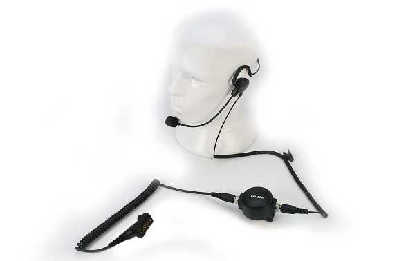 Nauzer PIN59TPH900 Micro pertiga-Auricular tipo diadema nuca PTT profesional