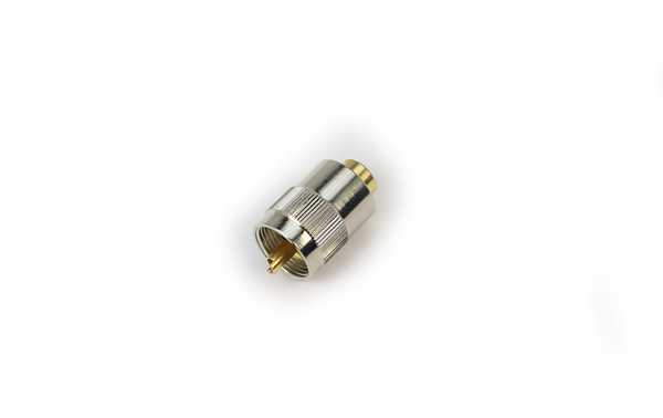 PL259 GOLD LONG GOLD-plated PL MALE connector with TEFLON insulation