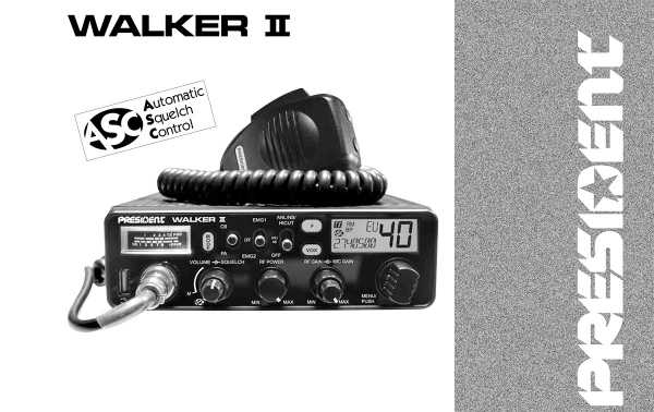 President Walker -II-ASC emisora AM / FM 40 canales CB 27 Mhz