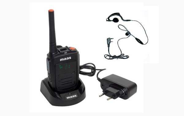 MAAS PT-120 Professional Walkie-talkie, free PMR 446