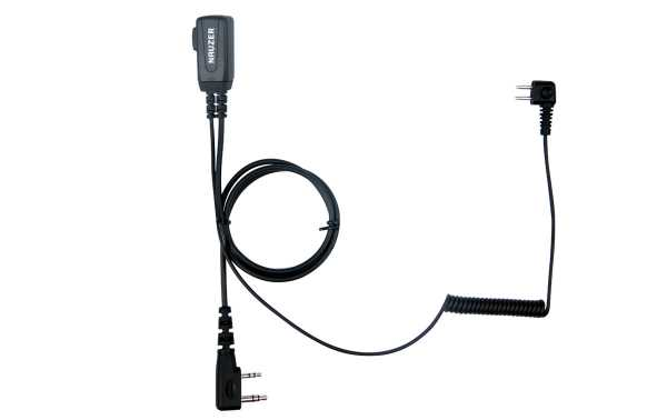 NAUZER PTT-32K  Cable con micro  PTT compatible casco PELTOR SPORTTAC caza y conectar walkies KENWOOD.