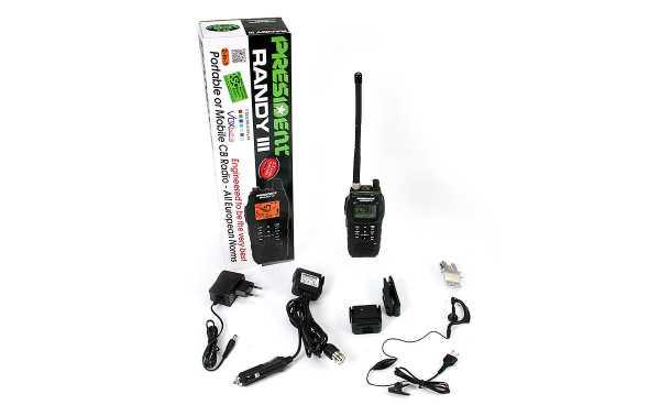 RANDY-III PRESIDENT Portatil AM/FM walkie CB 27 Bateria Litio 1800 mAh