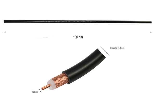 RG-213 Cable coaxial baja perdida ventas por metros diametro10 mm