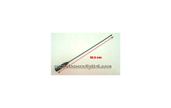 SRH-519-HOX HOXIN Antena para walkie doble banda 144-430 Mhz.  Longitud 18.5 cms.