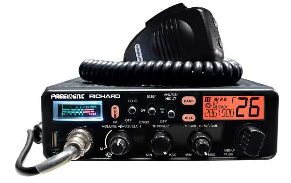 PRESIDENT RICHARD Emisora CB10 metros AM-FM