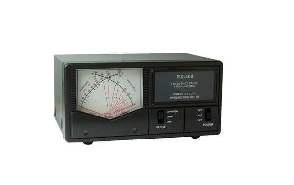 RX400  MAAS Medidor  agujas cruzadas R.O.E. / Watimetro . Frecuencias 140-525 Mhz