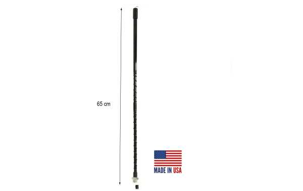 PROCOMM SF2-B Antena rosca 3/8 vehiculo radiante CB27 Longitud 65 cm