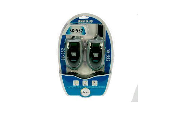 SK552 SOMMERKAMP PMR446 pareja de walkies + 2 PINGANILLOS + 1 CARGADOR DOBLE