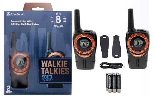 COBRA SM-662C Pareja de walkies  PMR color cobre alcance 8 km
