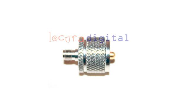 SMA1830 Conector SMA  hembra a PL macho.