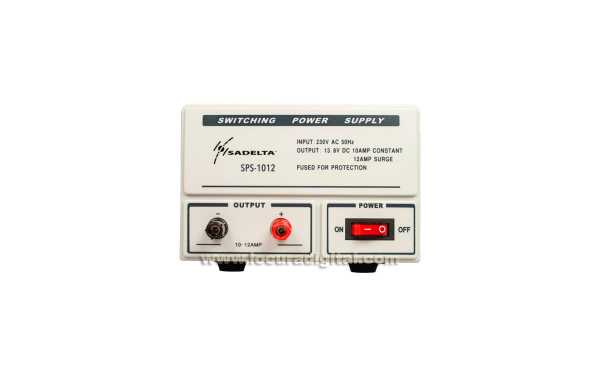 SADELTA SPS-1012 ALIMENTATION 13,8 volts. 10 à 12 ampères