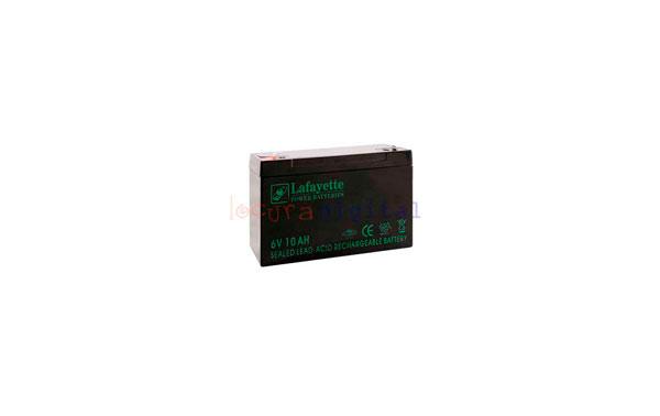 SW 6100 BATERIA  DE PLOMO RECARGABLE Lafayette Power VOLTAGE 6 V. Capacidad 10,0 amperios. Terminal: T1