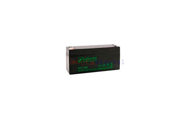 SW 633 BATERIA  DE PLOMO RECARGABLE Lafayette Power VOLTAGE 6 V. Capacidad 3,3 amperios. Terminal: T1