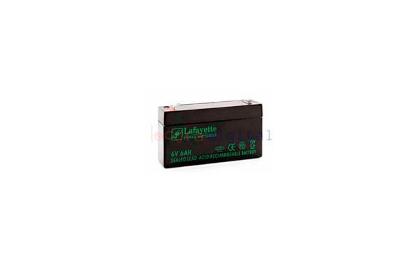 SW 6603 BATERIA  DE PLOMO RECARGABLE Lafayette Power VOLTAGE 6 V. Capacidad 6,0 amperios. Terminal: T1