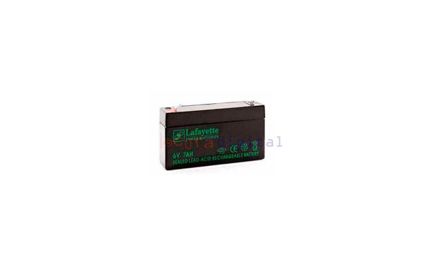 SW 670 BATERIA  DE PLOMO RECARGABLE Lafayette Power VOLTAGE 6 V. Capacidad 7,0 amperios. Terminal: T1