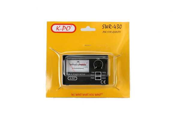 KPO Meter ROE / Watimetro 100 w. 26-30 Mhz.