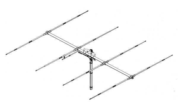 SIRIO SY-4. Antena CB Direcitva YAGI de 4 elementos para CB 27 Mhz