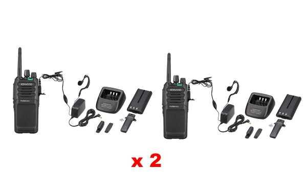 TK3701D-KIT2 KENWOOD Pack of two free-use Analog-Digital Walkie PMR446