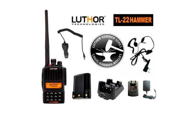 LUTHOR TL-22 HAMMER Walkie monoband 144 mhz. Water protection IP-65