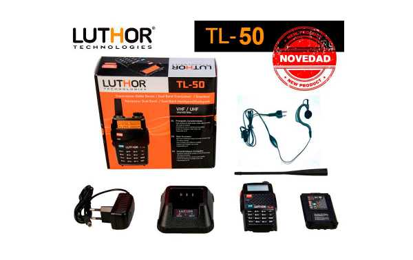 Luthor TL-50 Walkie double VHF / UH Band 144/430 Mhz