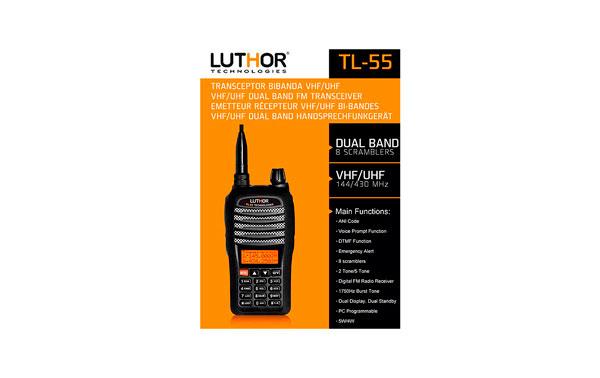 WALKIE TALKIES LUTHOR TL55 BI BANDA DUAL BAND VHF UHF !! NUEVO EL MAS COMLETO 8 SCRAMBLER Y 5 TONE !!