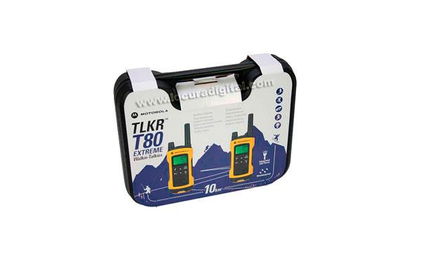 motorola tlkr t80 extreme 2 walkies 2 pinganillos. Black Bedroom Furniture Sets. Home Design Ideas