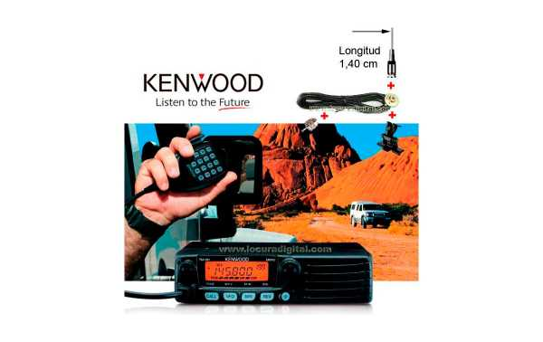KENWOOD  TM 281E  EMISORA  MOVIL VHF IDEAL PARA MONTAJE EN VEHICULOS SIN HACER ORIFICIO EN LA CHAPA CON ANTENAS LARGA