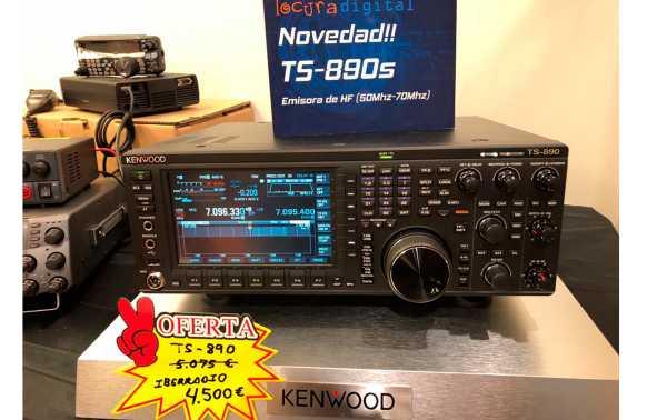 Nuevo Kenwood TS 890-S  EMISORA DE HF / 50 MHZ.70 MHZ  - Potencia  100 Watios. 50 Mhz 50 watios en 70 Mhz.
