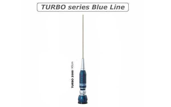 SIRIO TURBO 2000 - Antenne mobile CB 27 Mhz.- TURBO 2000 8/5 onde conique Varilla 17/7 acier inoxydable-ball système de joint 90 PH.-. - Base de TURBO + 4 mts. RG58.-