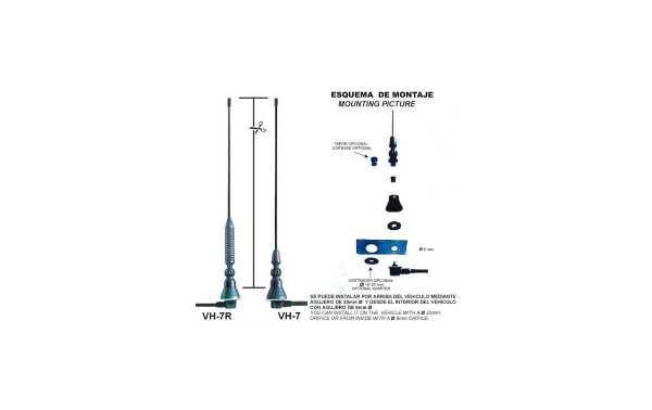 ANTENA DE MOVIL VHF7R