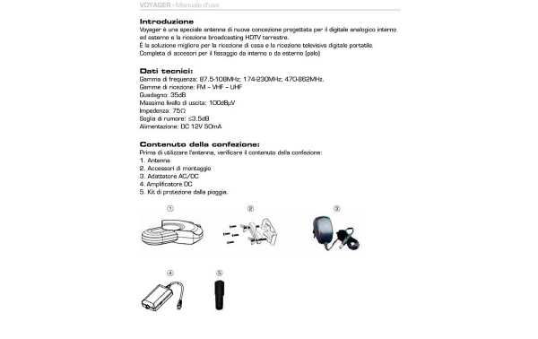 LAFAYETTE VOYAGER Antenna TV Exterior-Interior FM-VHF-UHF. amplified