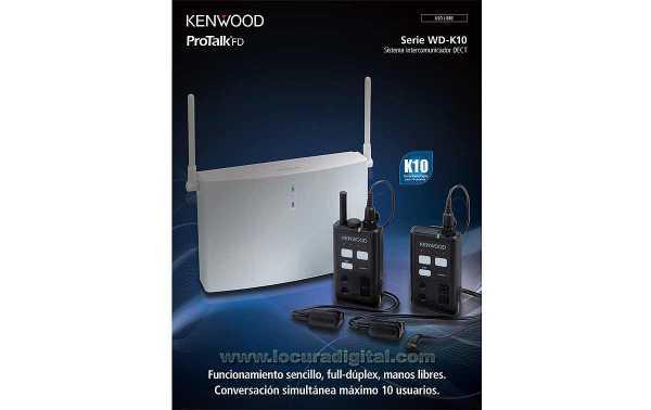 KENWOOD WD-K-10-BS DECT estacion base.