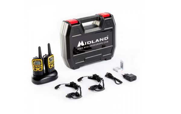 MIDLAND XT-50-AVENTURE Par Walkie-talkies mid-range PMR446 chegar a 8 Km