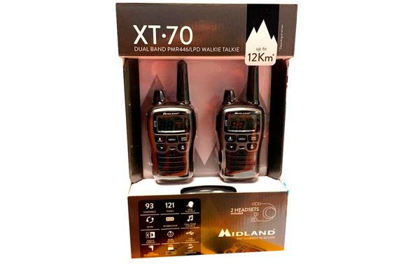 MIDLAND XT-70 Couple walkies PMR446 FREE USE